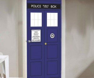 Doctor Who TARDIS Door Decal – Instantly makes any room or closet in your house bigger on the inside.