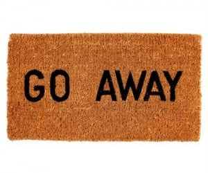 Stop solicitors and unwanted guests in their tracks with the aptly title 'Go Away' doormat.