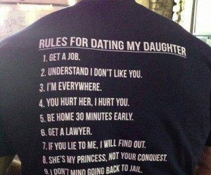Rules for Dating My Daughter Shirt – The perfect gift for ANY father with a teenage daughter.
