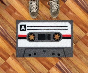 Cassette Tape Doormat – Step back into the 80's literally when you step onto this doormat!
