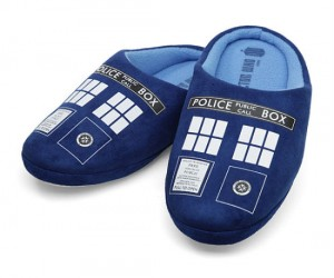Doctor Who TARDIS Slippers – Because even the Doctor has to stay comfortable.