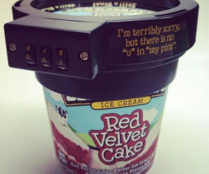 Ice Cream Lock – Tired of other people stealing bites of your ice cream? Well here's the perfect solution!