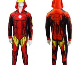 Iron Man Onesie – Well I guess it's more of a Fleece Man than Iron Man, but it still works!