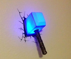 Thor Hammer Light – Nothing will keep you safer at night than the power of Thor's almighty hammer!
