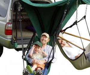 Trailer Hitch Hammock – From trailer trashy to trailer classy.