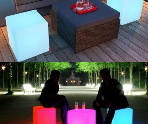 LED Cube – It's a chair, it's a table, it's a foot stool; It's a cube so you can pretty much use it for anything.