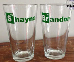 Breaking Bad Pint Glasses – Add a little element of awesome to your name, with your very own custom Breaking Bad Pint Glasses!
