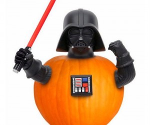 Turn any pumpkin into the Dark Lord of the Sith himself with the Darth Vader Pumpkin push in!