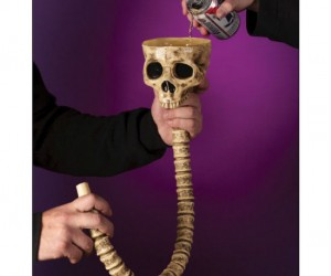 Skull Beer Bong – There's nothing like chugging beer through the spinal column of a skeleton.
