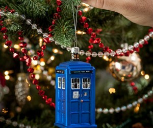 Doctor Who TARDIS Christmas Ornament – Complete your geek tree with this beautifully detailed ornament.