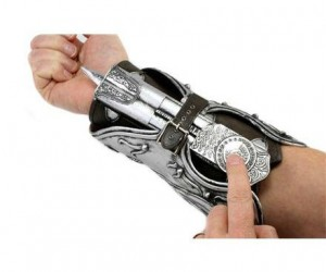 Assassin's Creed Hidden Blade Gauntlet – Now you'll have a spring loaded hidden blade gauntlet just like Ezio!