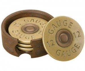Shotgun Shell Coasters – Perfect for holding a couple of shots.