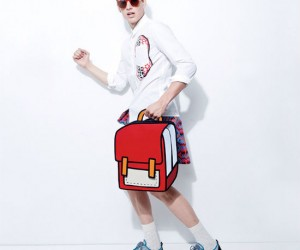 You'll look like you just stepped out of a comic, or at least your backpack will!
