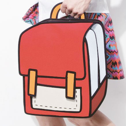 2d cartoon backpack