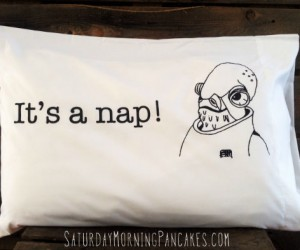 Star Wars It's A Nap Pillow Case – Admiral Ackbar will keep your dreams trap free!
