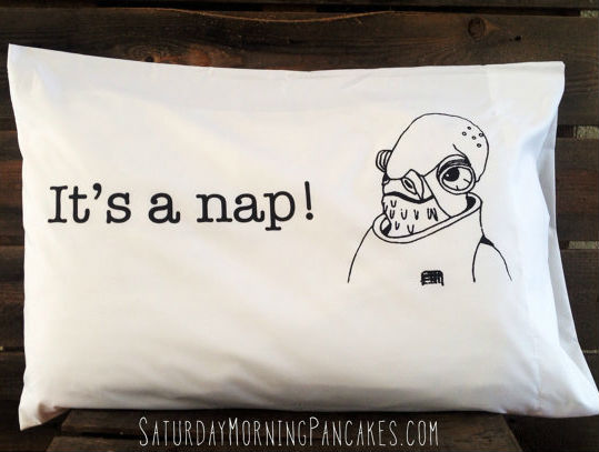 its a nap pillow case