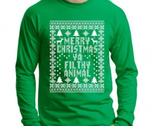Merry Christmas Ya Filthy Animal Tee – Kevin McCallister would be proud!