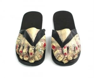 Zombie Feet Sandals – You'll be literally walking dead.