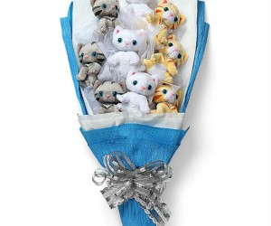 Nobody would want roses when they could have a bouquet full of kittens!!!!