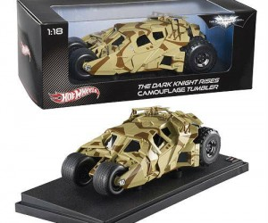 Batman The Dark Knight Rises Hot Wheels Camo Tumbler – I don't remember any Hot Wheels ever being this cool when I was a kid.