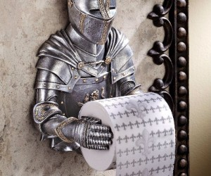 Medieval Knight Toilet Paper Holder – Nothing's too good for a King on his throne.