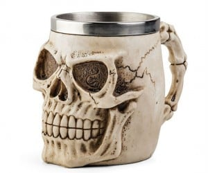 Realistic Skull Resin Mug – The perfect way to get a head start on your day, no bones about it!