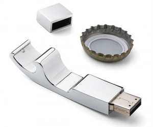 USB Bottle Opener – You never know when you'll have to crack open a bottle while finishing up that big report.