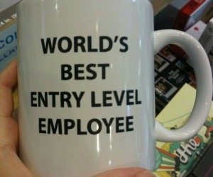 World's Best Entry Level Employee Mug – Your coworkers will be so jealous!