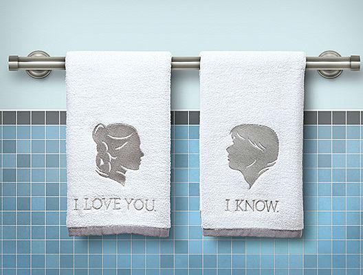 i love you i know hand towels