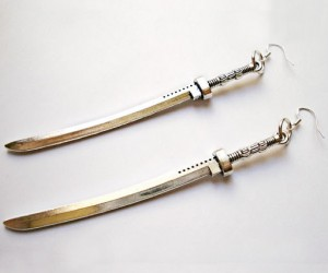 The Walking Dead Michonne Katana Earrings – You never know when you might need to use them.