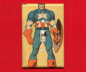Captain America Light Switch Cover – What a turn on!