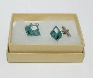 Adventure Time BMO Cufflinks – BMO is camera, BMO is video game console, and now BMO is cufflinks!