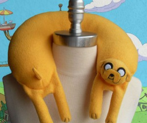 Adventure Time Jake The Dog Neck Pillow – What good is a best friend if they can't be used as a neck pillow?