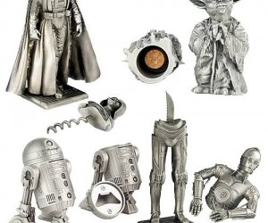 Star Wars Pewter Barware Set – Now all you need are some Bith musicians and you could open up your ownMos Eisley Cantina.