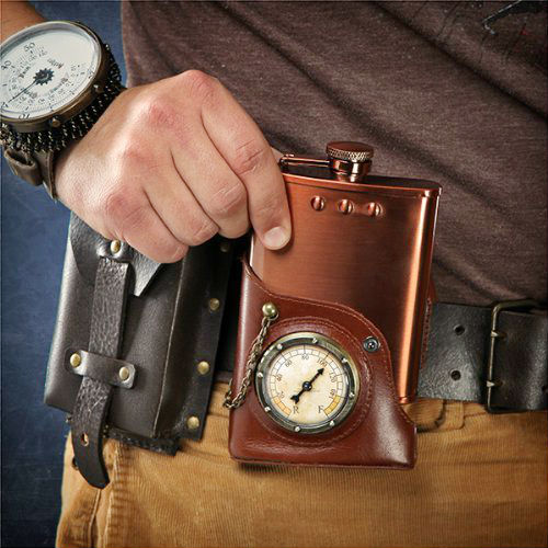 steampunk flask