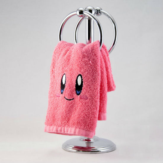 kirby embroidered hand towel