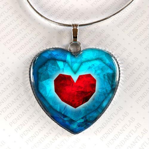 legend of zelda pendant heart necklace