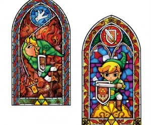 Legend of Zelda Stained Glass Wall Decals – May the triforce be with you…