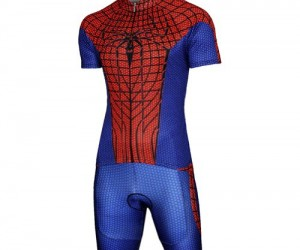 Spiderman Cycling Jersey – Why swing through the mean streets of New York when you could leisurely cycle around the peaceful streets of suburbia?