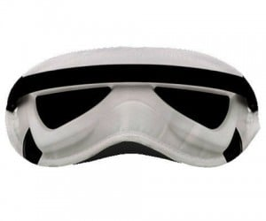 Star Wars Stormtrooper Sleep Mask – Now you won't hit anything in your dreams either.
