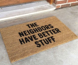 A pathetic attempt at home security, but hey, maybe it'll actually work!