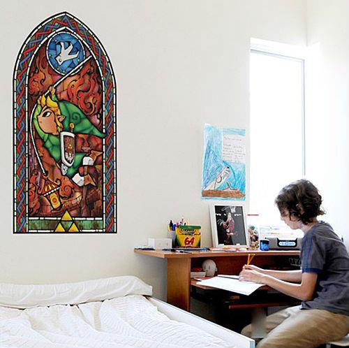 zelda stained glass window decal