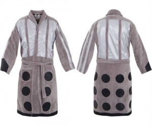 Doctor Who Dalek Bathrobe – Time to go take a bath and EXTERMINATE all that filth!