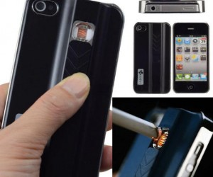 Need to light your cigarette? There's an app for that, or rather an iPhone case…