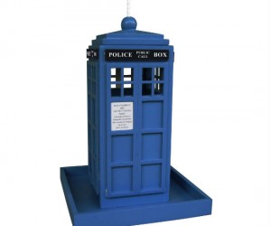 Doctor Who TARDIS Bird Feeder – There's nothing tastier to a bird than food that has traveled through time and space!