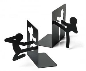 Fighting Stickmen Bookends – Fighting to keep your books in check!