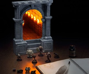 Desktop Endless Dungeon Corridor –Perfect for any lover of dungeons, corridors, infinity, D&D, or castles.