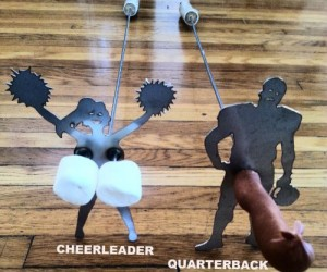 Naughty Cheerleader and Quarterback Roasting Sticks – Cheer on your fire to roast those marshmallows evenly!