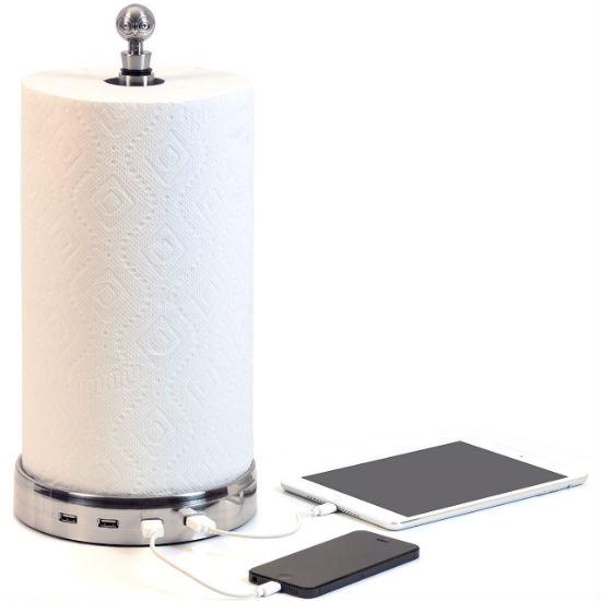 Paper Towel Holder USB HUB
