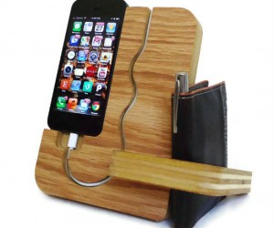 Handmade wooden iPhone docking station – A great gift for any man! (Granted he has an iPhone)